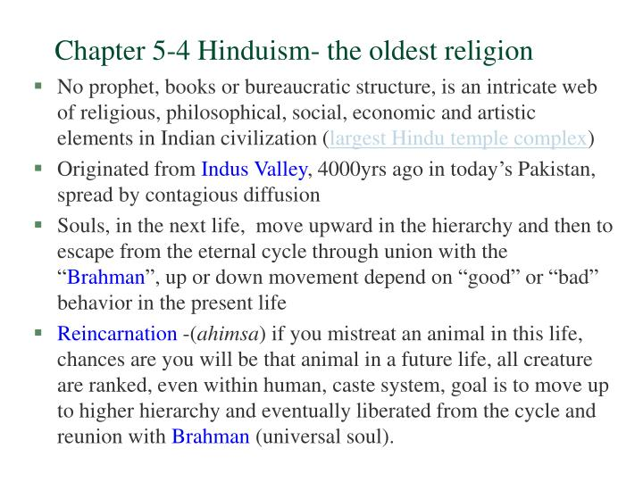 PPT Chapter Hinduism The Oldest Religion PowerPoint - Oldest religion