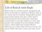 life of rani amit singh