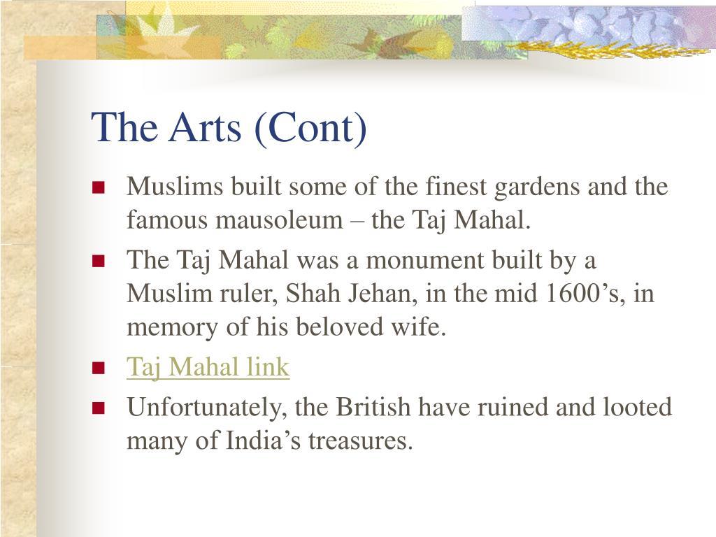 The Arts (Cont)