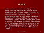ahimsa