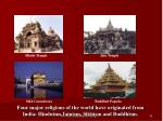 four major religions of the world have originated from india hinduism jainism sikhism and buddhism