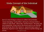 hindu concept of the individual
