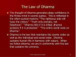 the law of dharma