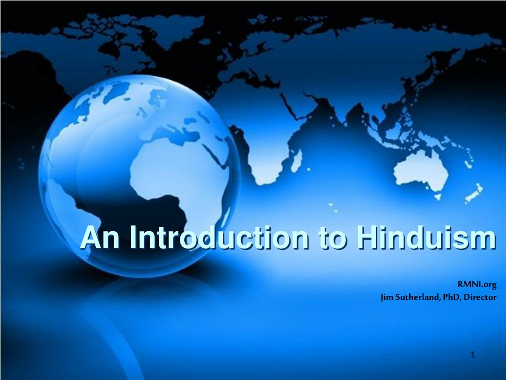 an introduction to hinduism l.