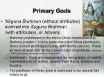 primary gods