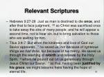 relevant scriptures