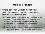 who is a hindu