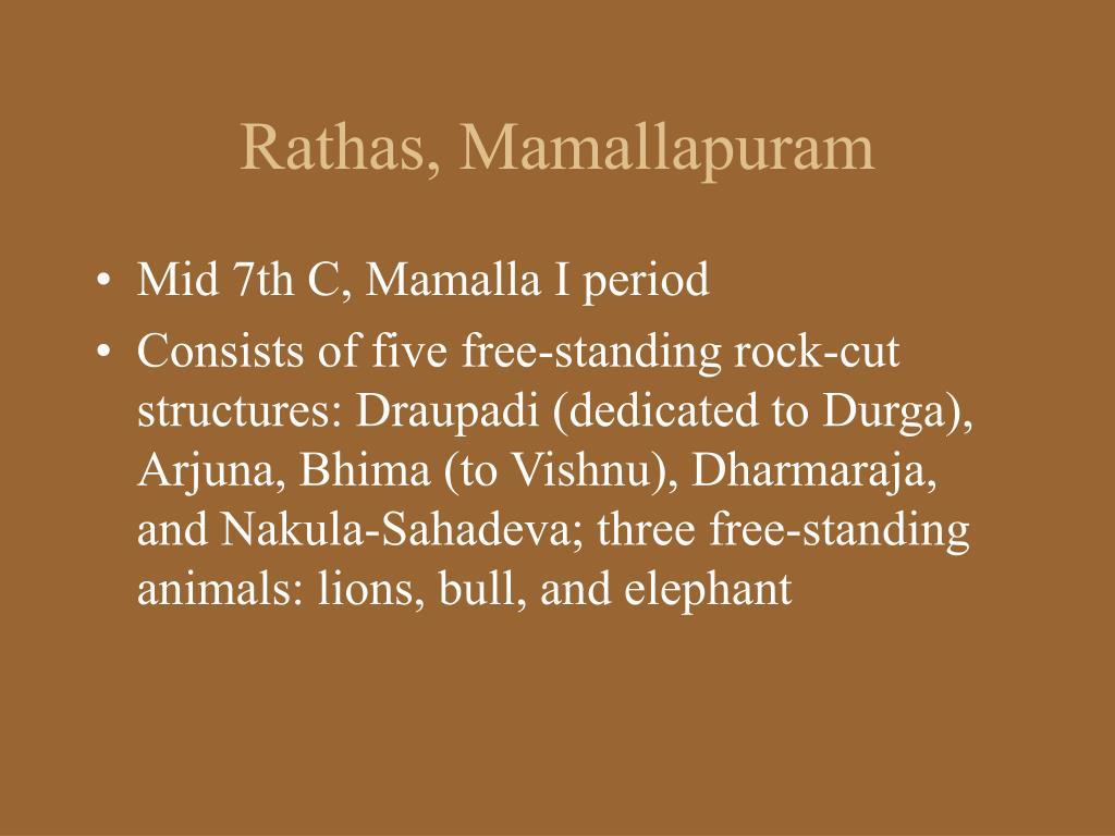 Rathas, Mamallapuram