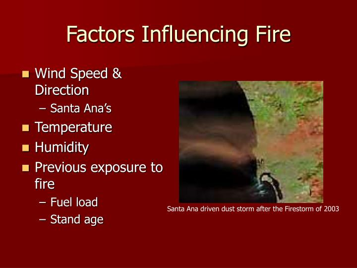 Factors Influencing Fire