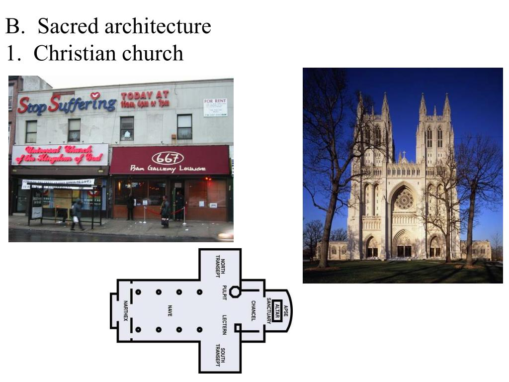 B.  Sacred architecture