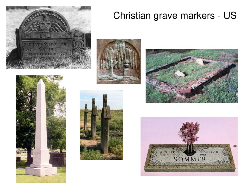 Christian grave markers - US