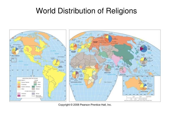 World distribution of religions