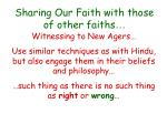 sharing our faith with those of other faiths40
