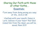 sharing our faith with those of other faiths5