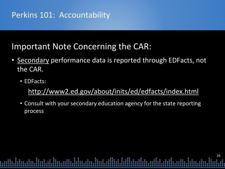 Perkins 101:  Accountability