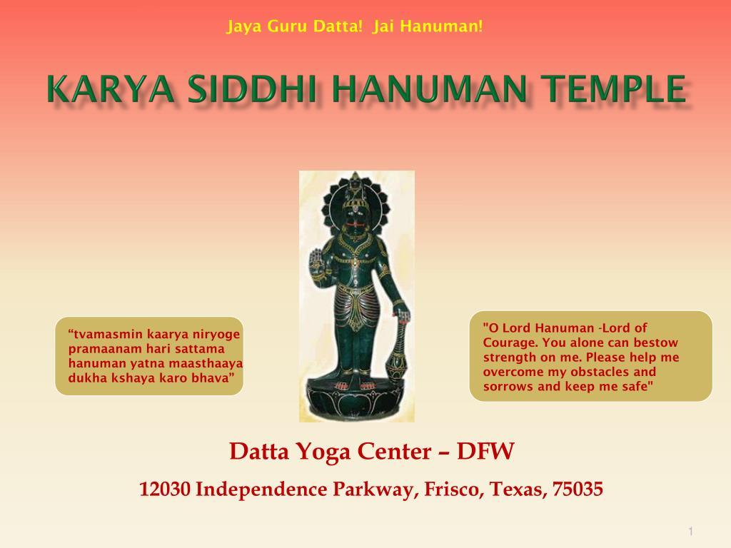 karya siddhi hanuman temple l.
