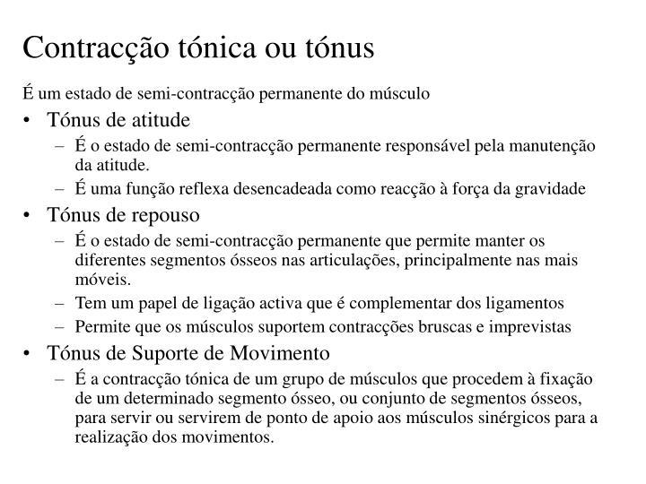 Contracção tónica ou tónus