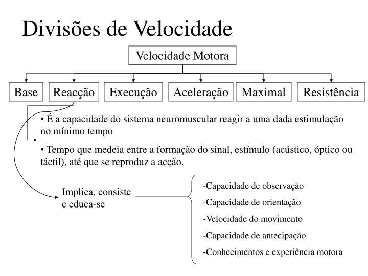 Divisões de Velocidade