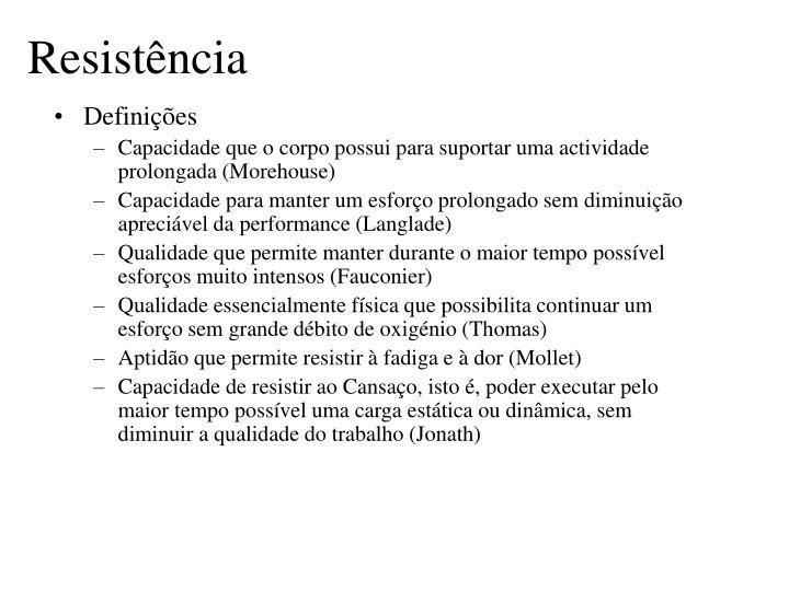 Resist ncia