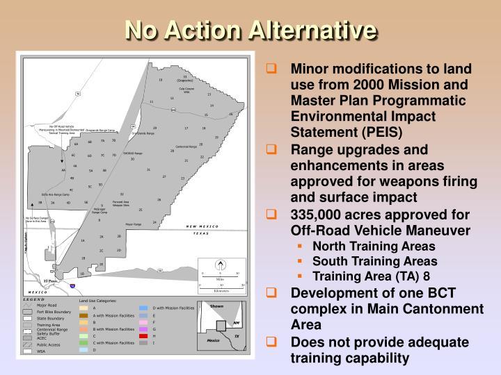 No Action Alternative
