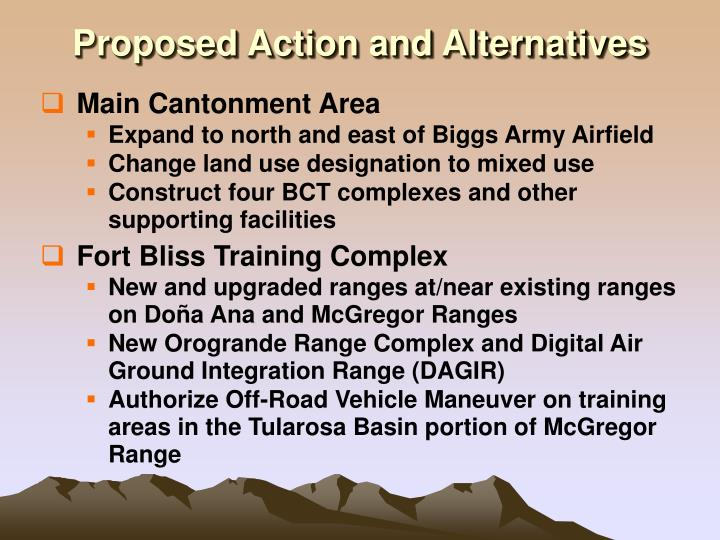 Proposed Action and Alternatives