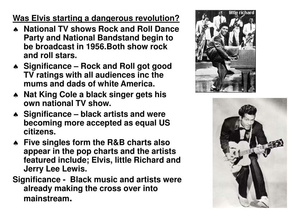 Was Elvis starting a dangerous revolution?