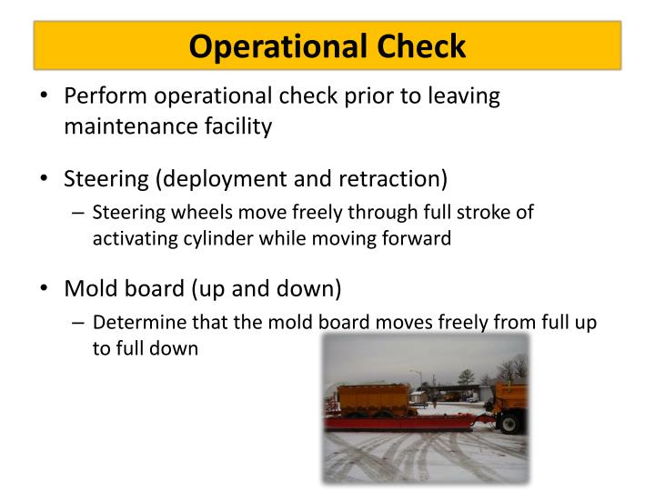 Operational Check