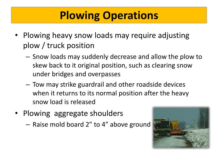 Plowing Operations