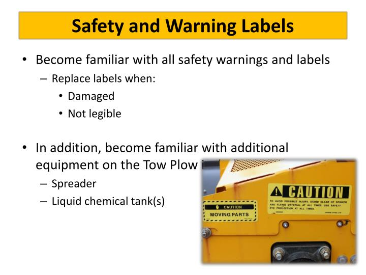 Safety and Warning Labels