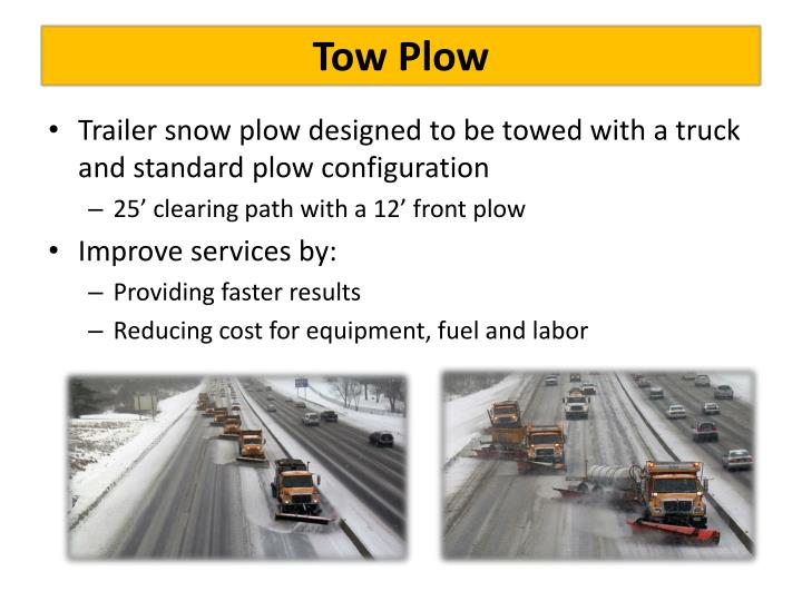 Tow plow