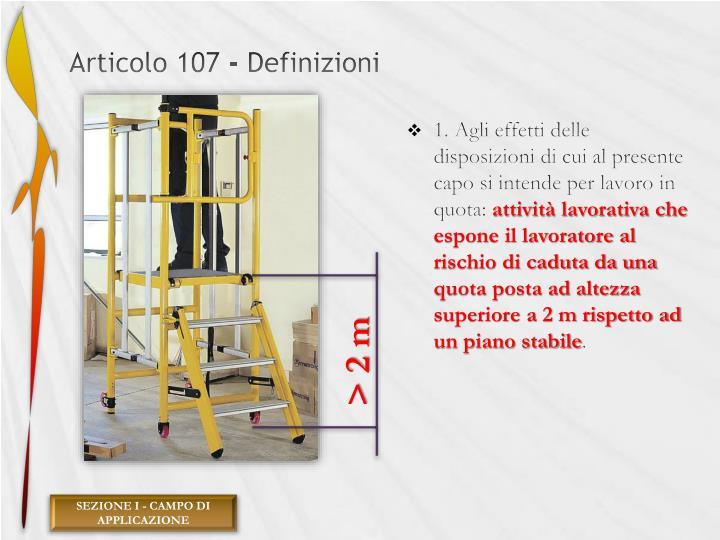 Articolo 107 - Definizioni