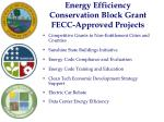 energy efficiency conservation block grant fecc approved projects