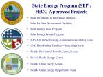 state energy program sep fecc approved projects
