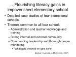 flourishing literacy gains in impoverished elementary school