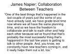 james napier collaboration between teachers