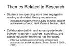 themes related to research