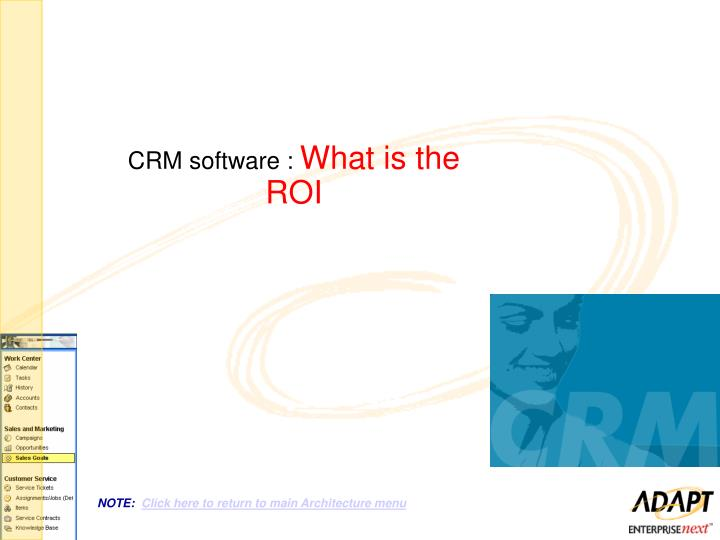 CRM software :