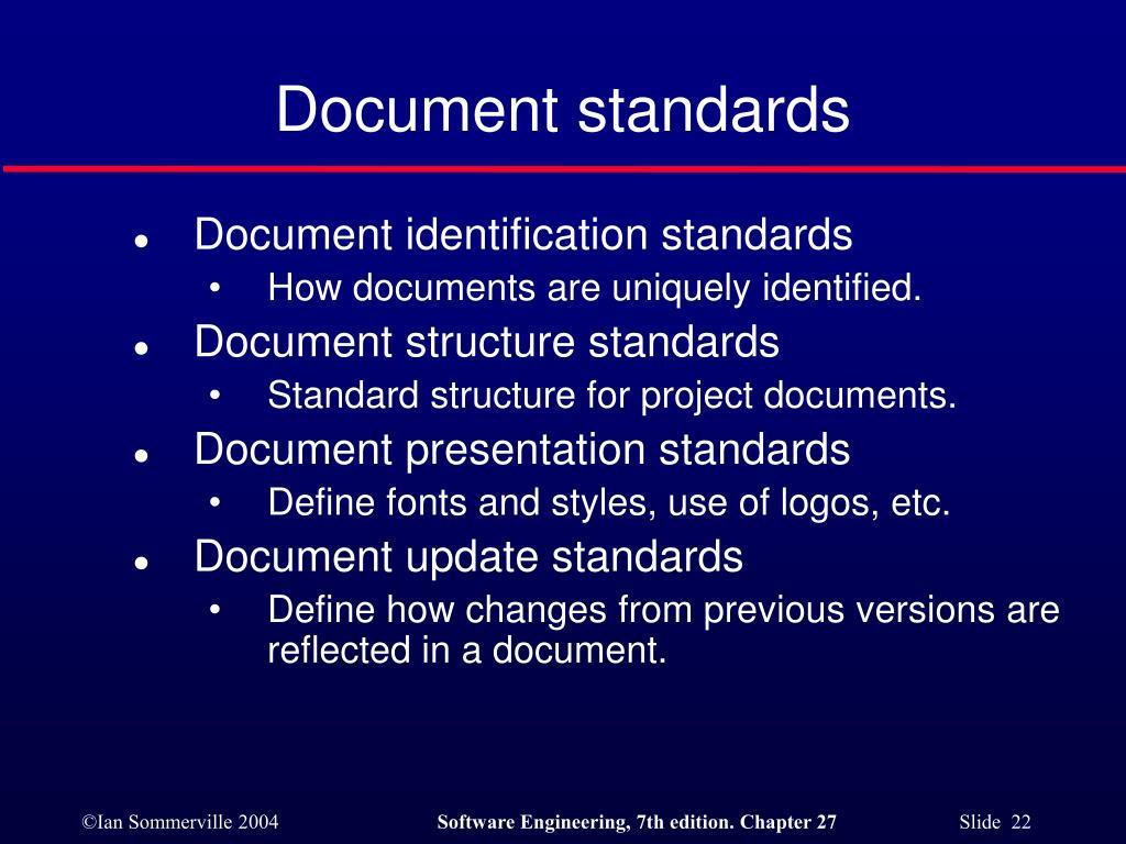 Document standards