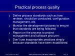 practical process quality