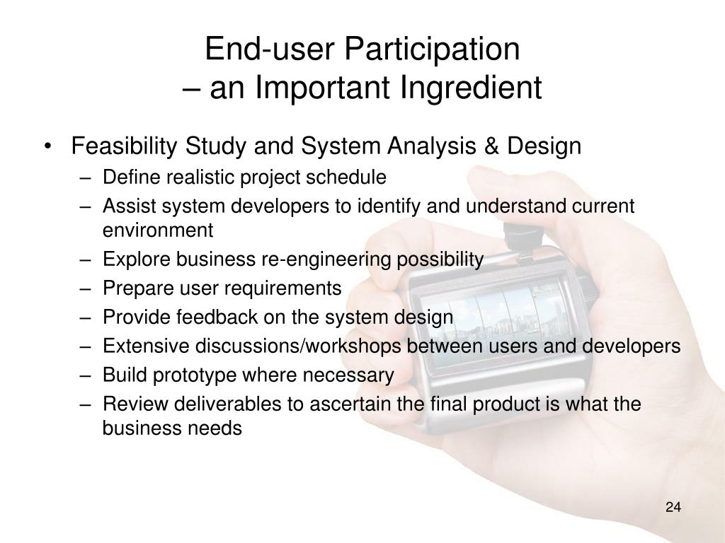 End-user Participation