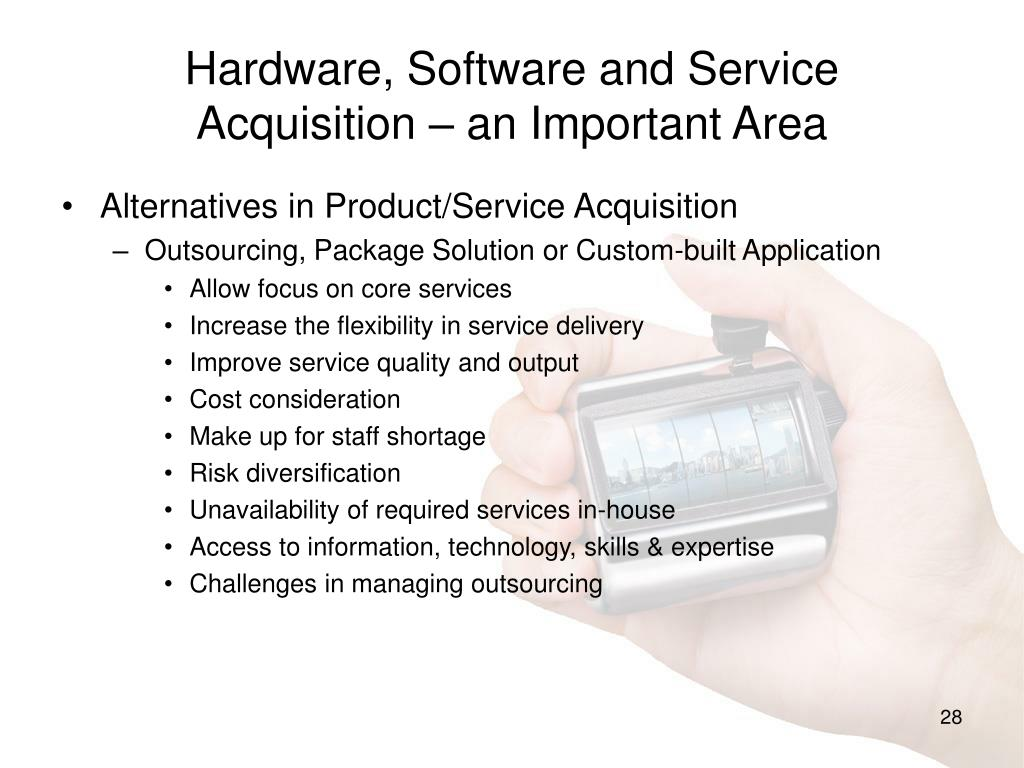 Hardware, Software and Service Acquisition – an Important Area