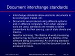 document interchange standards