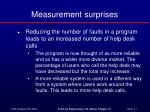 measurement surprises