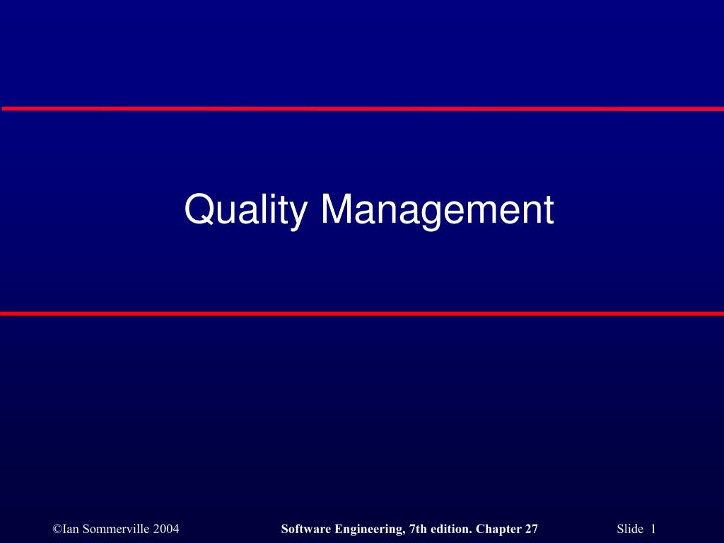 quality management l.
