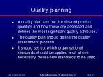 quality planning