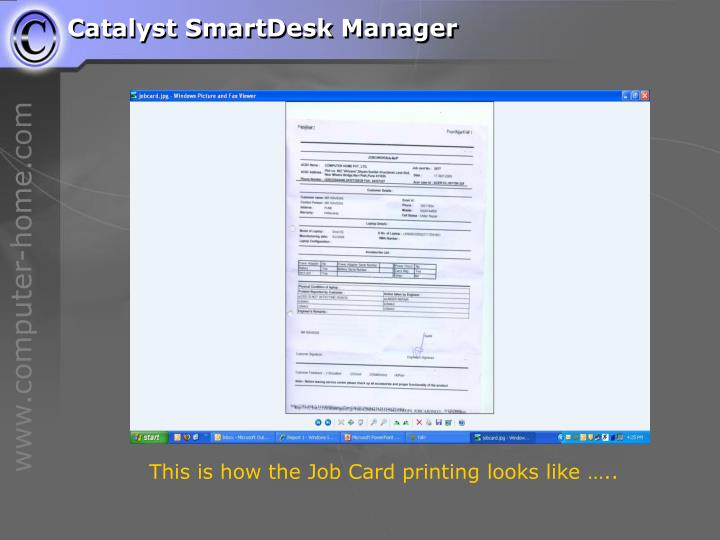 Catalyst SmartDesk Manager