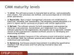cmm maturity levels
