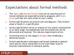 expectations about formal methods