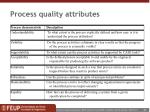 process quality attributes