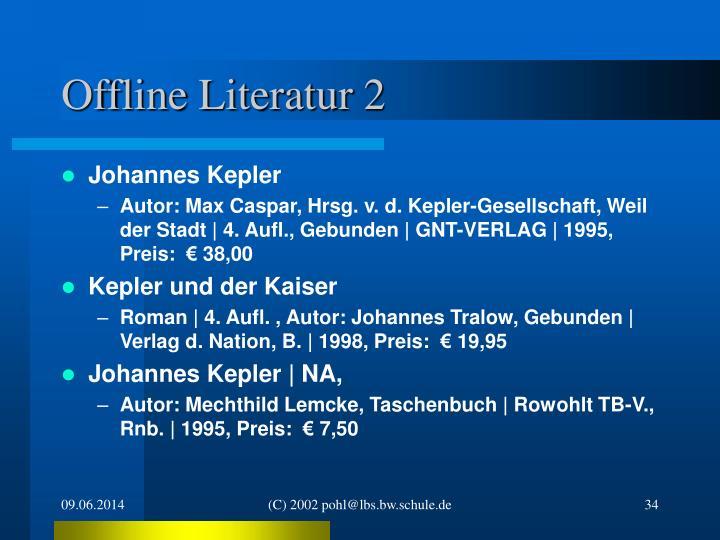 Offline Literatur 2